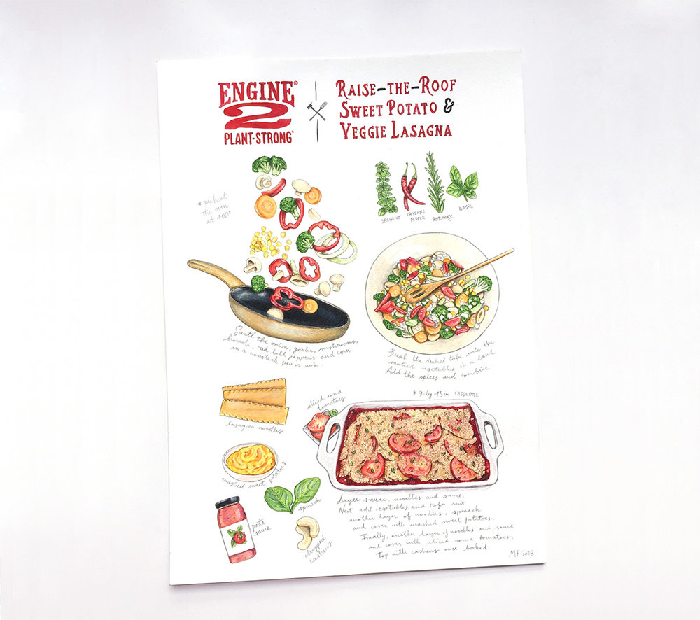 Full layout of my last illustrated recipe commission.