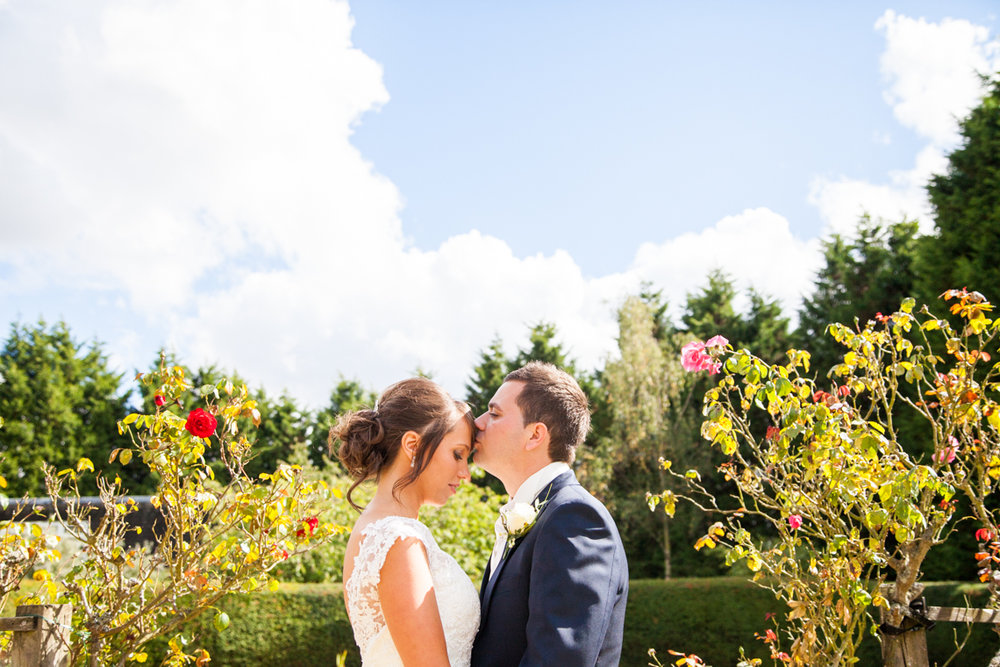 Hartsfield Manor Wedding Photography, bride and groom portrait, sussex wedding photographer