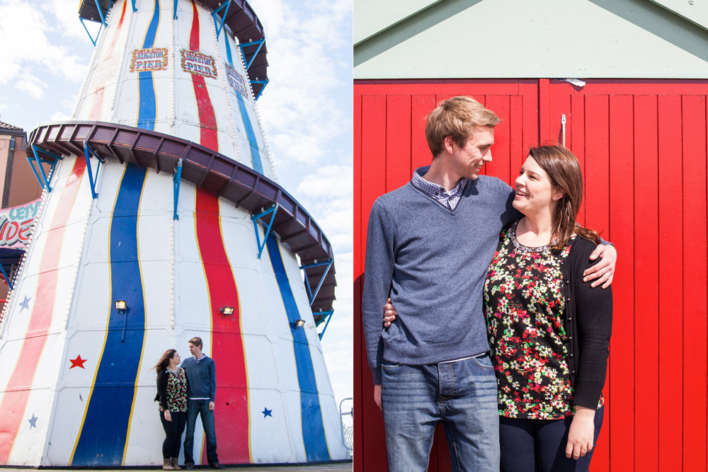 brighton engagement shoot, sussex wedding photographer