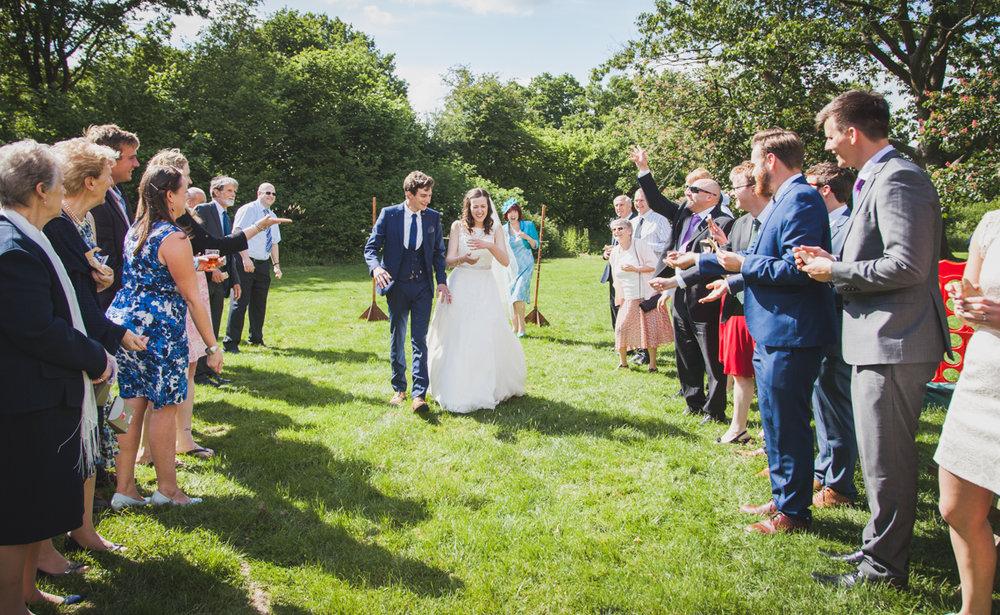 confetti shot, west sussex wedding