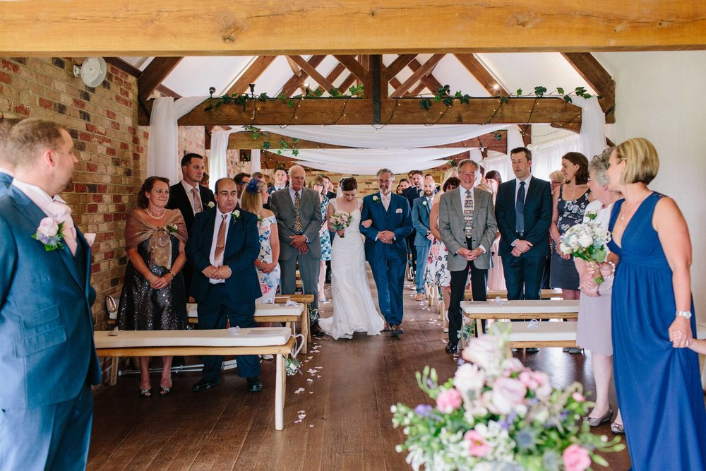 ceremony, long furlong barn, hayley rose photography
