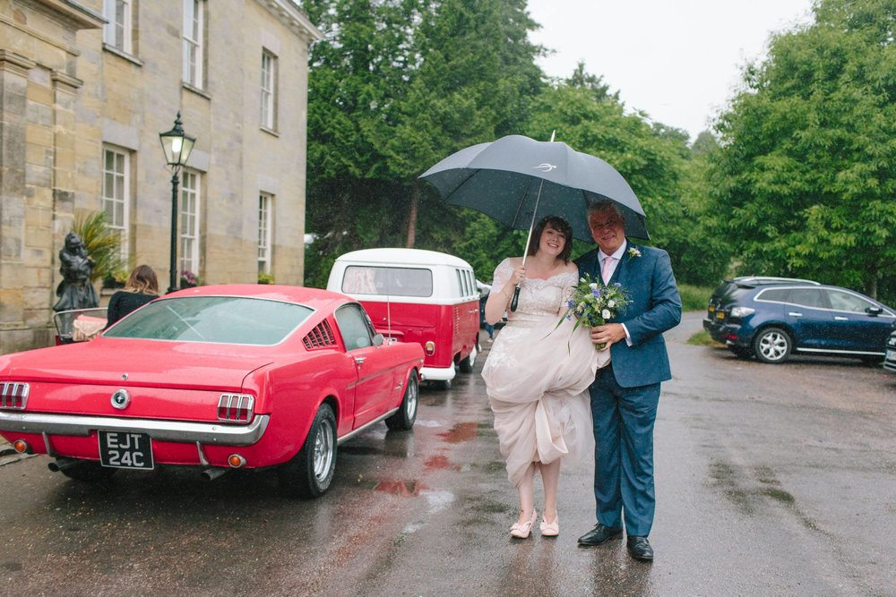 stanmer park rainy wedding