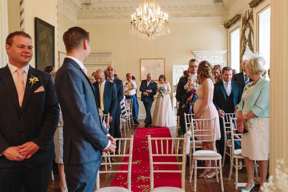 walking down the aisle at stanmer house