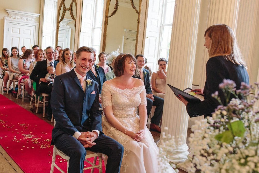 wedding ceremony at stanmer house