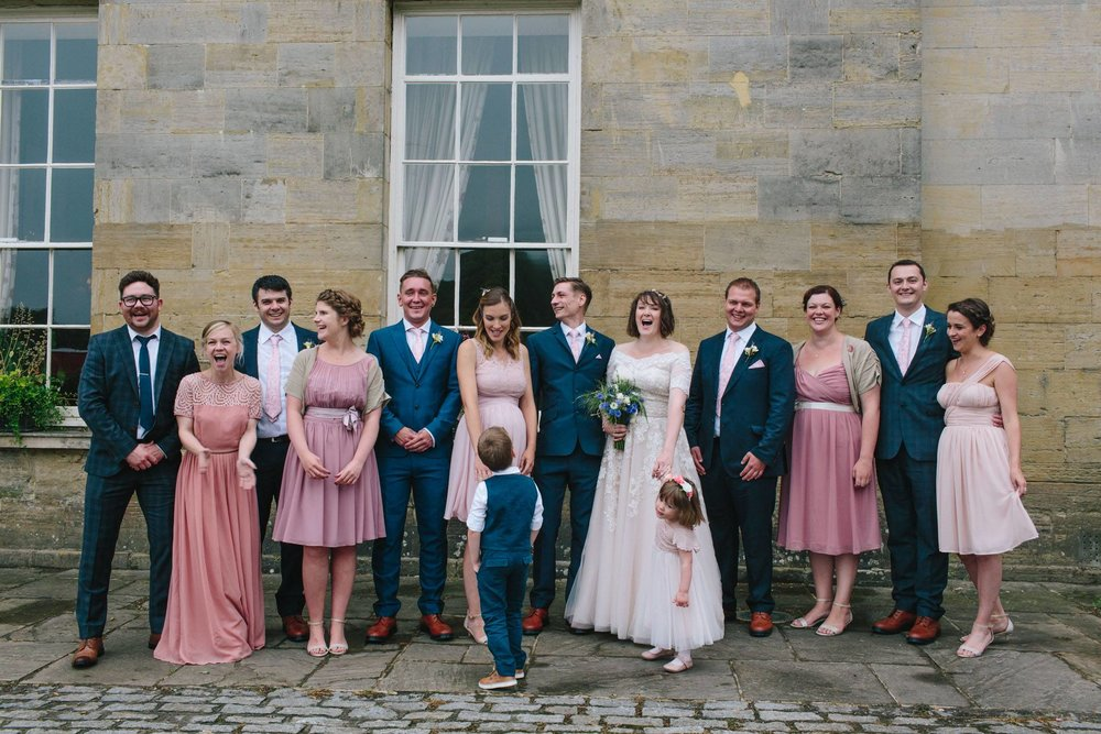 bridal party at stanmer house