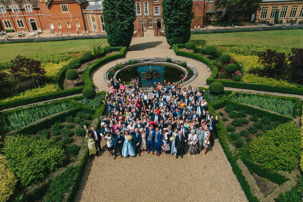 group shot, wedding party, wotton house, summer wedding, wotton house wedding photographer, same sex wedding