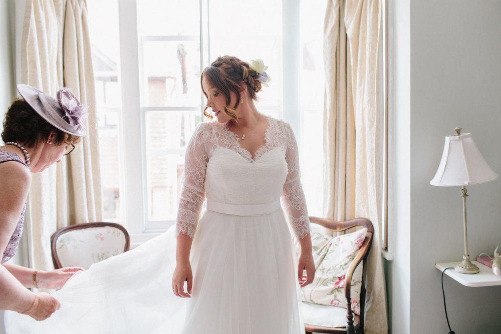 bridal prep wedding photography, sussex