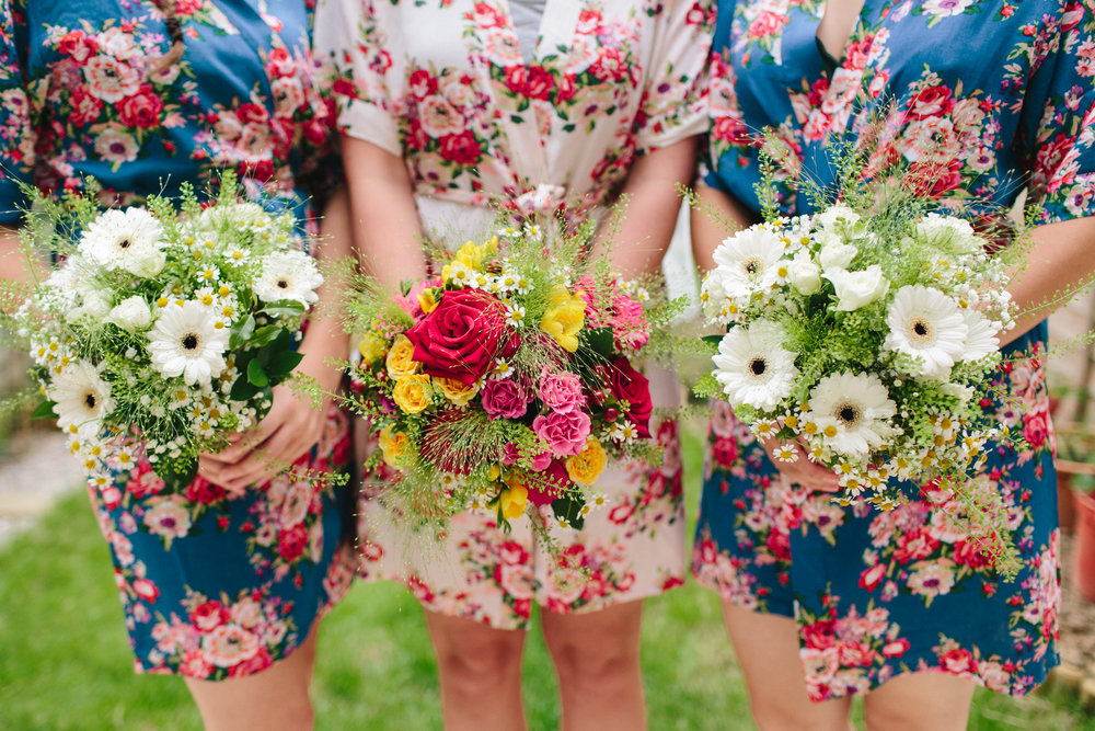 floral bridal dressing gown for bridal prep morning