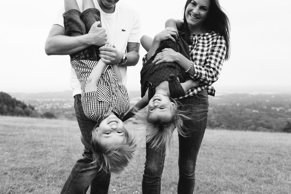 black and white family lifestyle documentary photographer