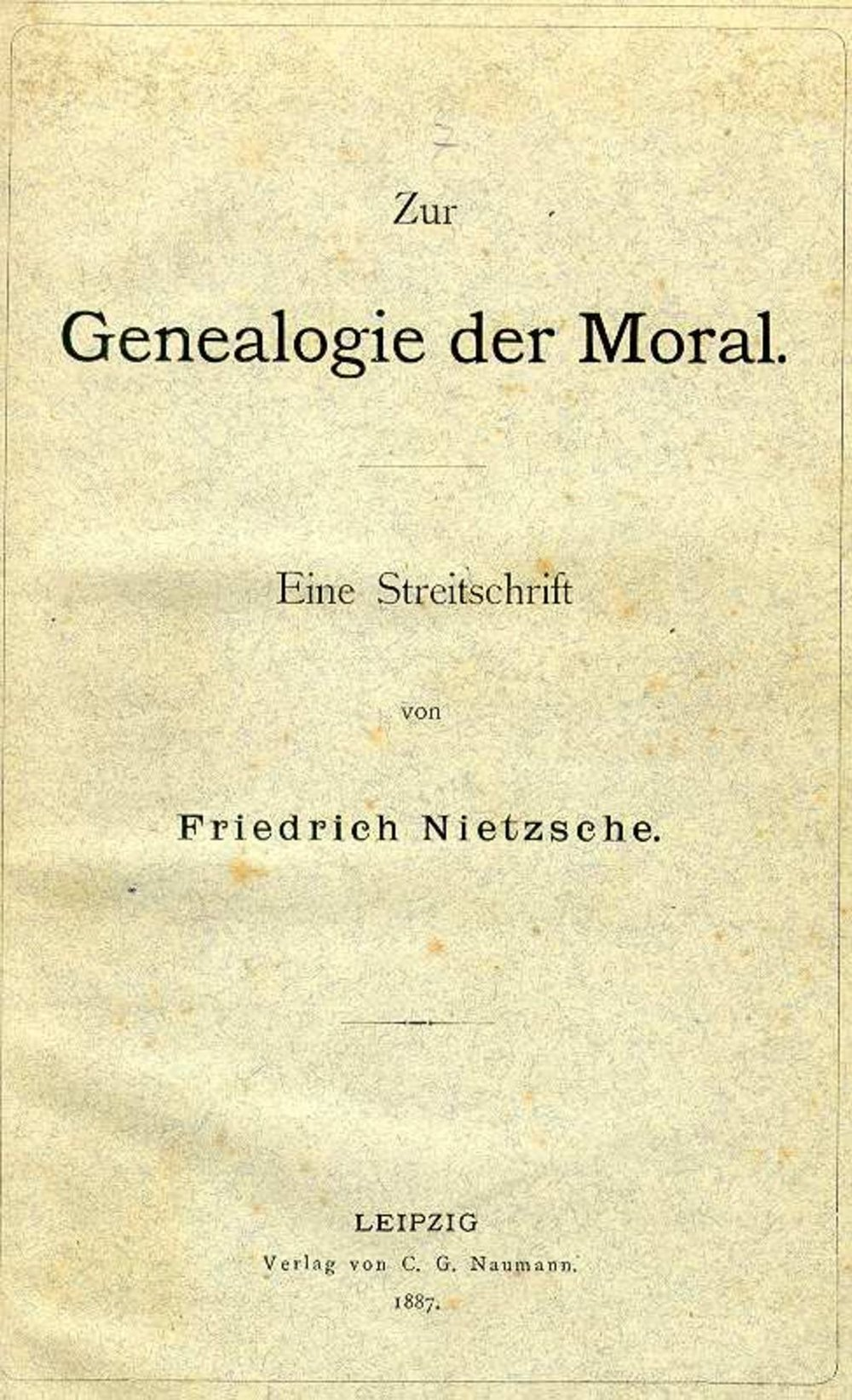 "nietzsche genealogy morals essay 1 Genealogy of morals, #10 essay 1 nietzsche's critique of morality • in twilight of the idols, nietzsche argues that morality is ""anti-nature"" he contended that there is not one type of human nature, but rather different types of natures amongst human beings and thus that universal moral codes ignore this feature of human existence and."