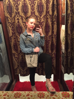 The funky dressing rooms of this thrift shop were too good to not take a photo in.