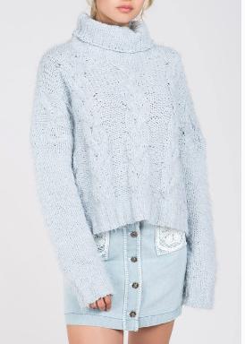 Baby Blue Turtleneck Sweater