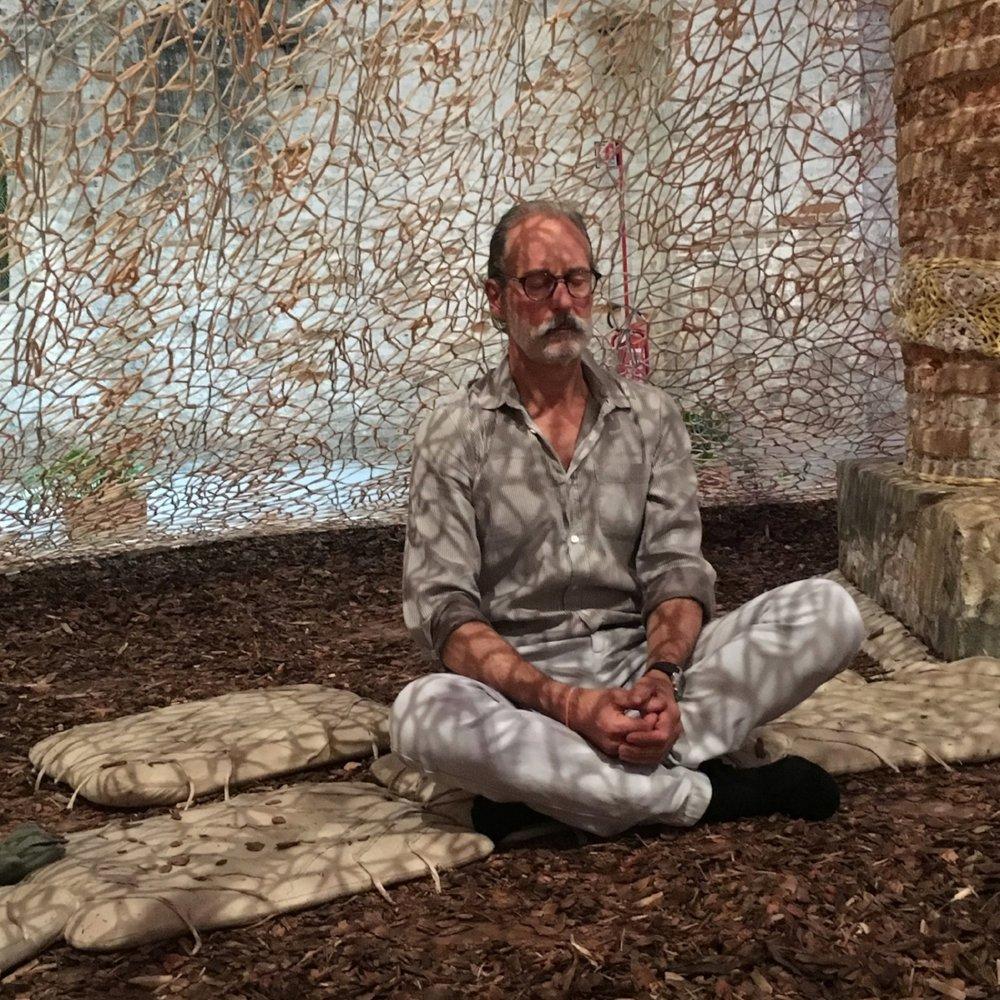 Anthony meditating