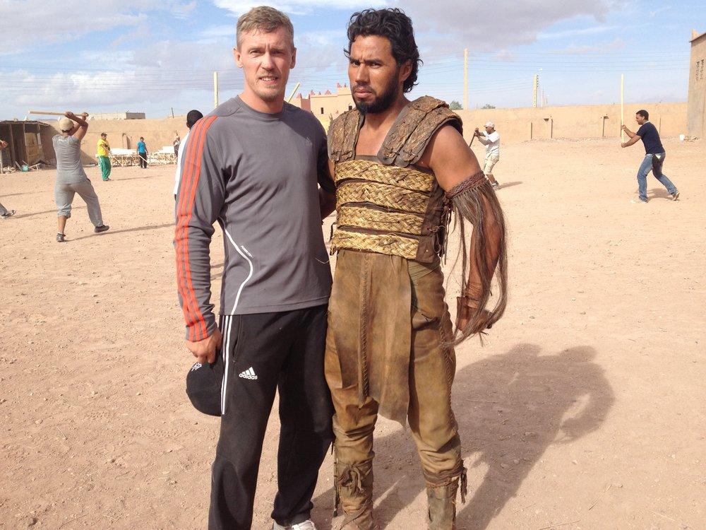 Game of Thrones - inspelning Marocko 2014 (stuntman)