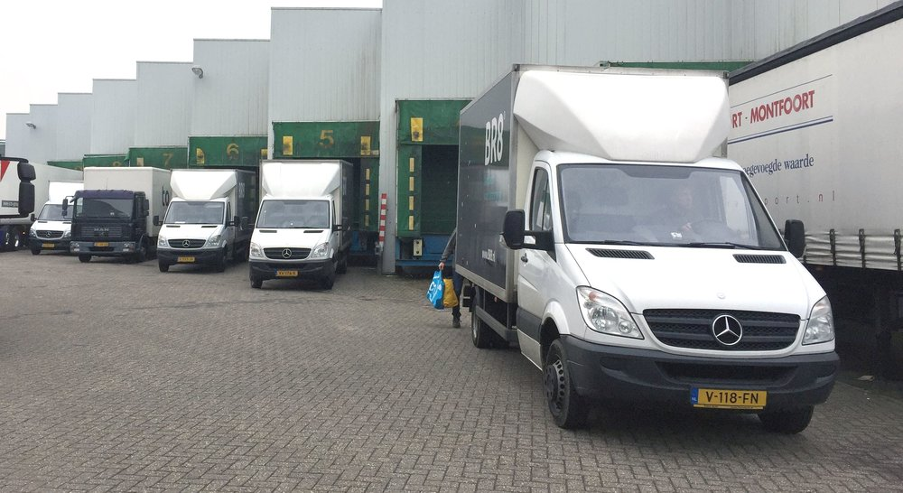 The current fleet: 4 * 19m3 vans, 1 * 40m3 truck