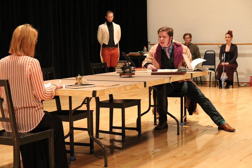 Arcadia rehearsal, October 2015, University production.