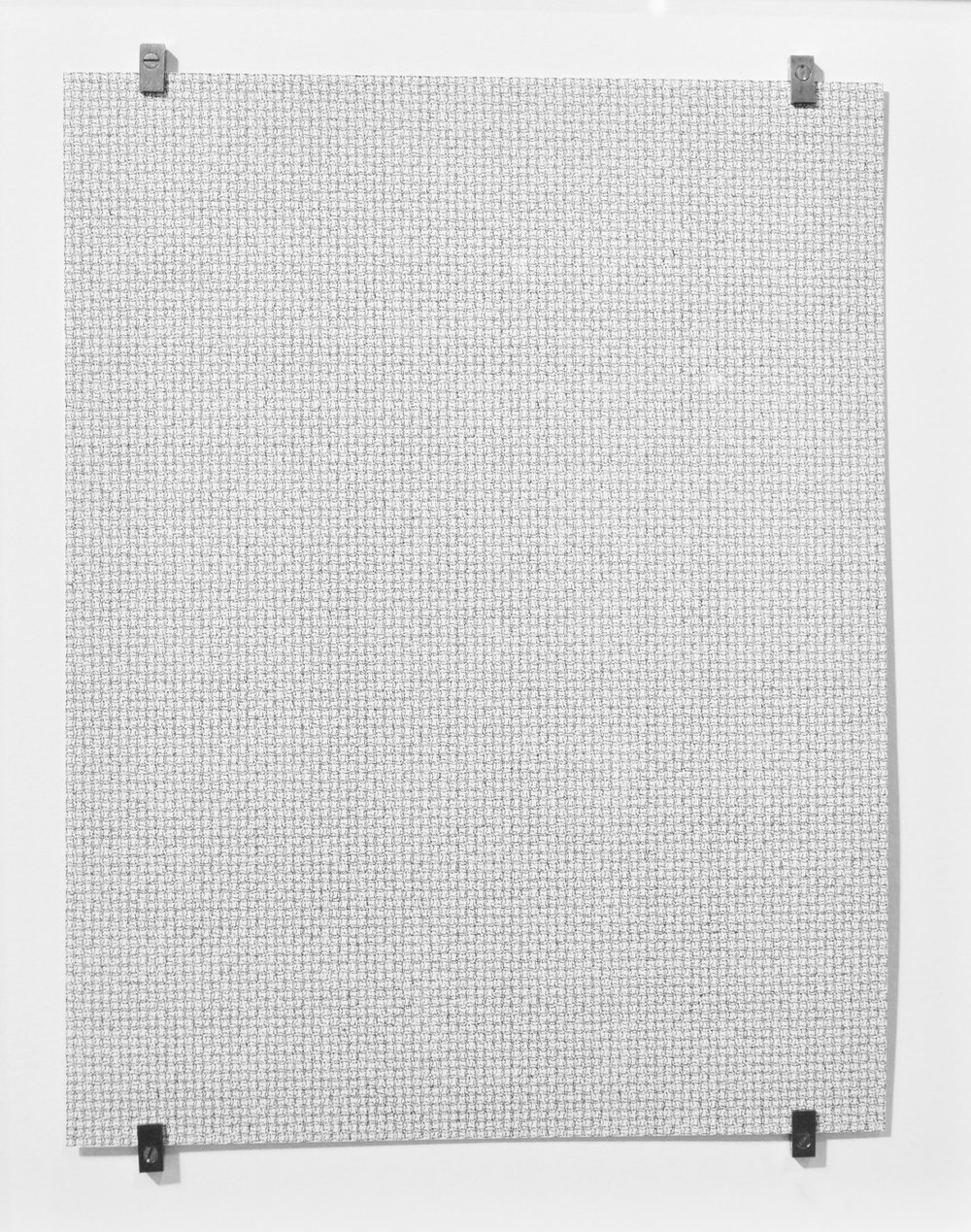 completely fucked letter - 42,588,  2017, ink on paper, double sided, 11 x 8.5 in. (Photo courtesy Olga Korper Gallery © 2017 Olga Korper Gallery)