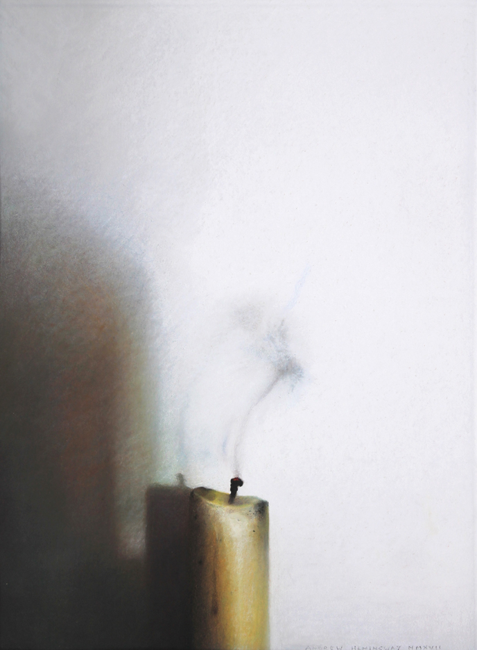 "Still Life: Church Candle Spen t, 2017, pastel on board, 15 x 11""  (Photo courtesy Mira Godard Gallery © 2017 Mira Godard Gallery)"