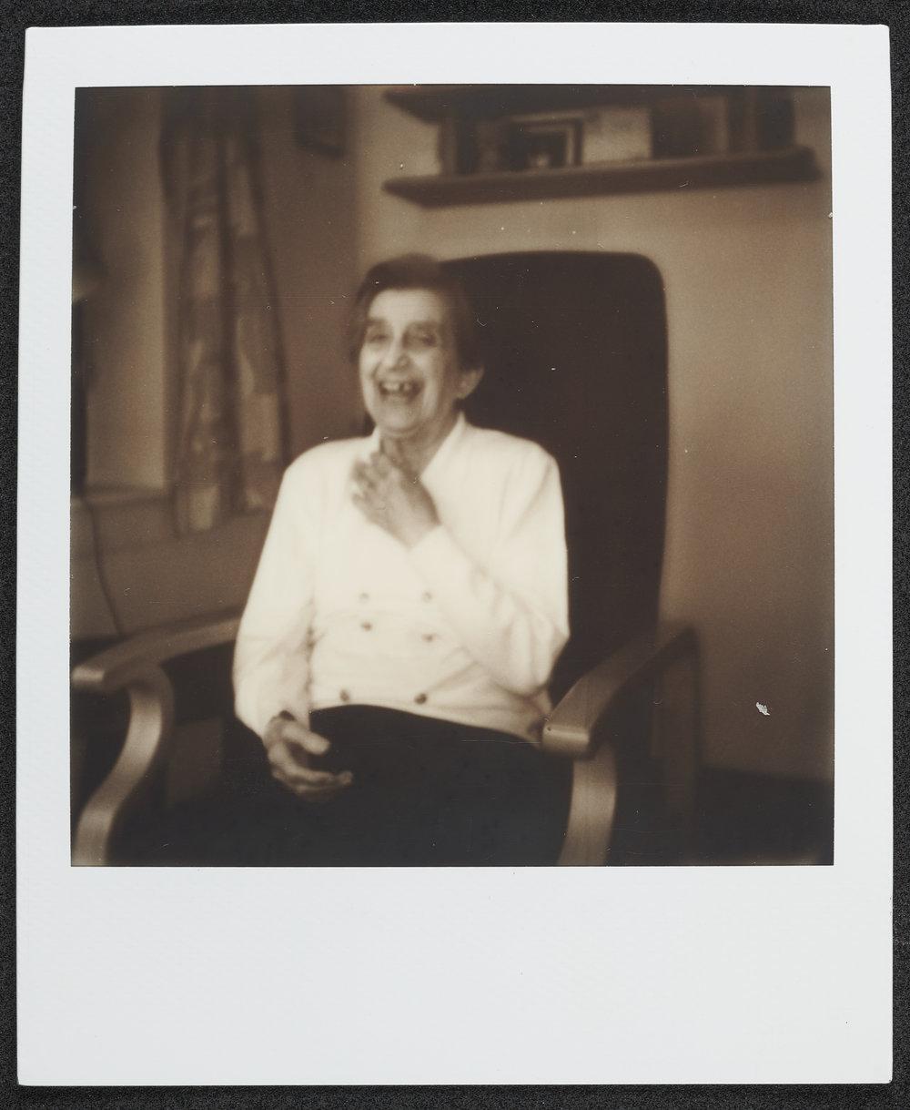Mrs. Vandermeulen,  2018, polaroid, (photo courtesy Sarah Basha © 2018   Sarah Basha )