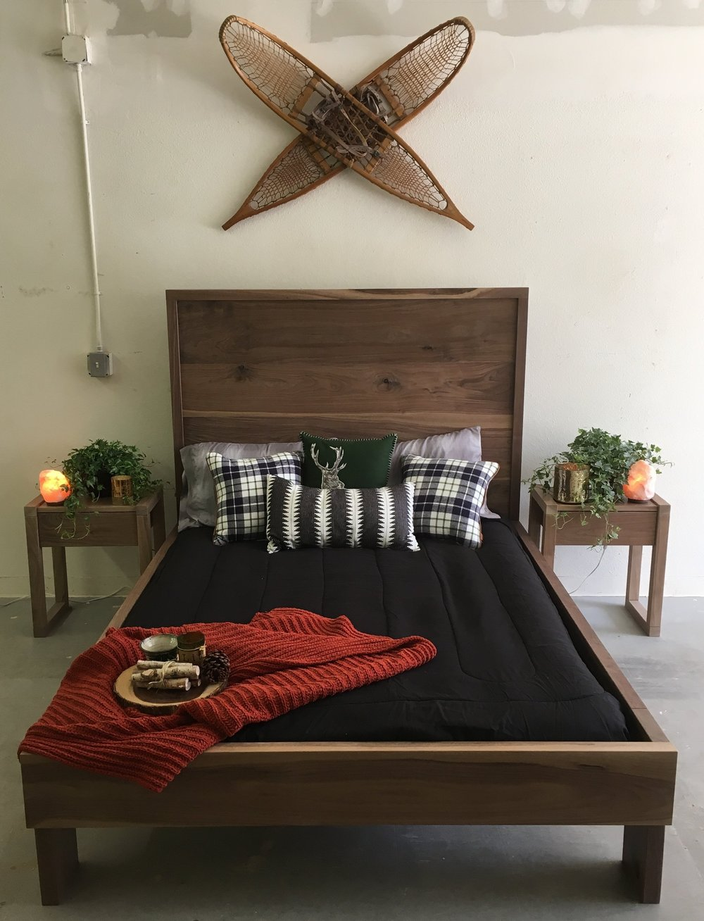 Custom Bed Frame House of Alpine Walnut Custom Furniture