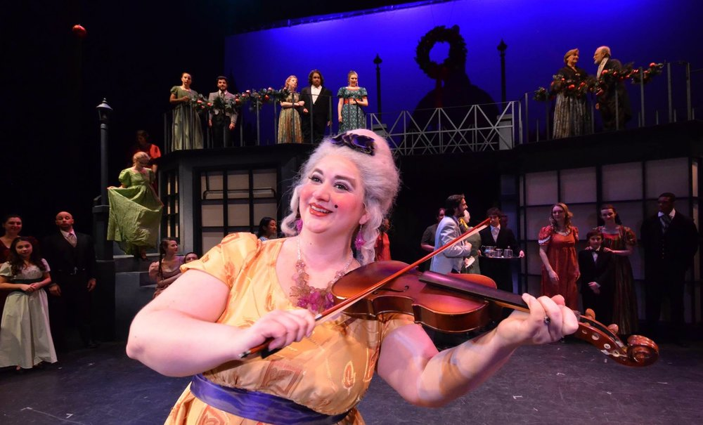 """Mrs Fezziwig - """"A Christmas Carol"""" (Menken) at Centenary Stage Company dir. Michael Blevins"""