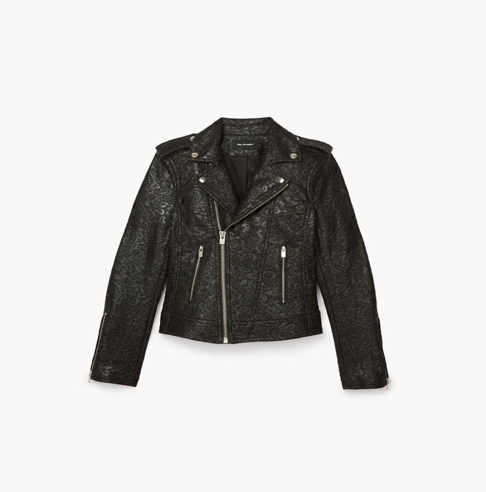 Waxed lace biker jacket, The Kooples, $415 at TheKooples.com