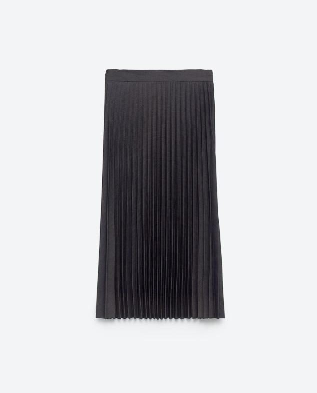 Navy Pleated Semi-Long Skirt, Zara, $49.90 at Zara.com