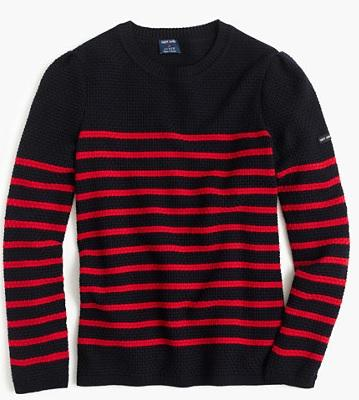 Vallee R Sweater by Saint James°, $310 at JCrew.com