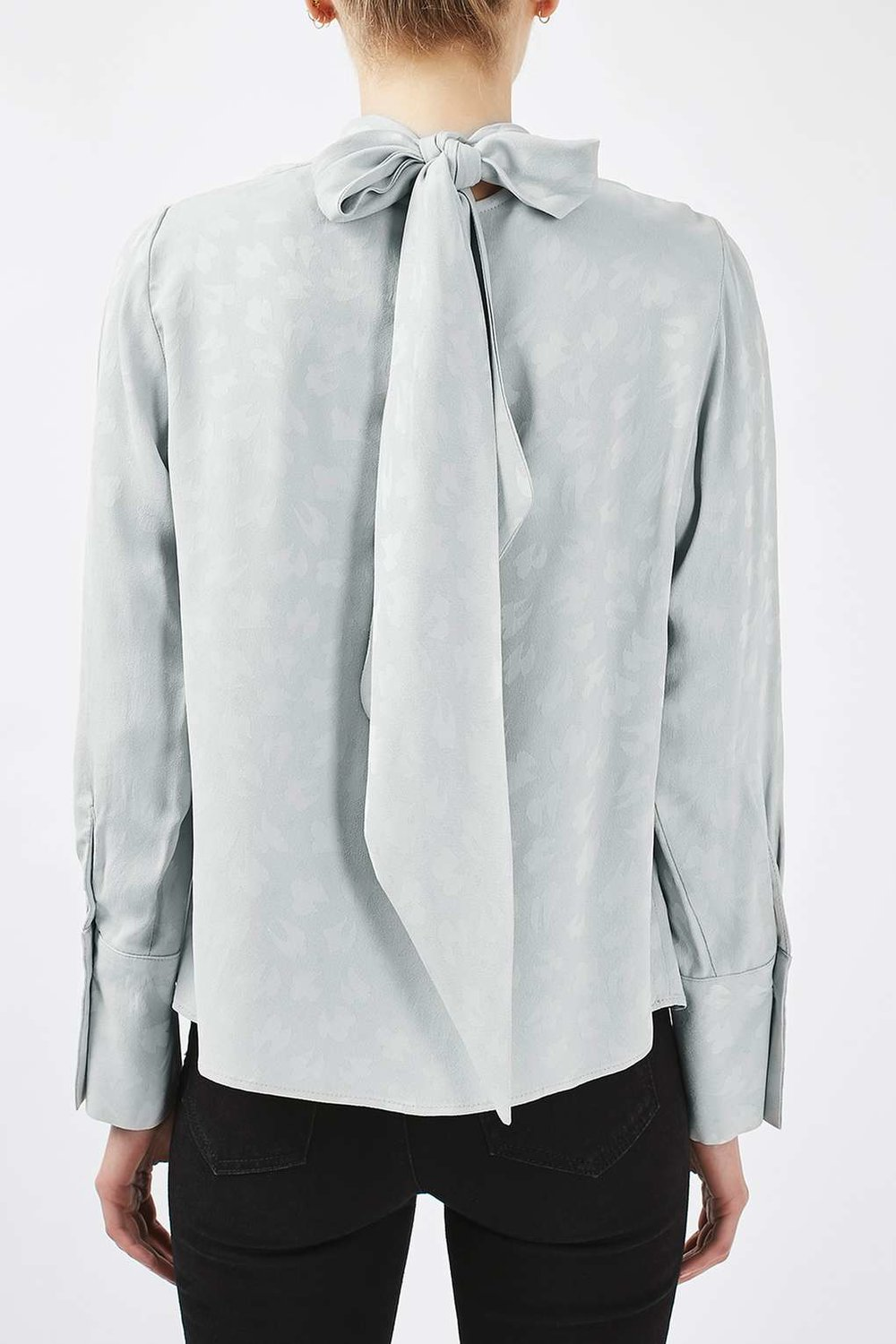 Jacquard Tie Blouse by Boutique, Topshop, $110 at Topshop.com