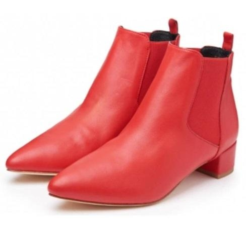 Miista Minimalist Red Ankle Boots, $119 at miista.com