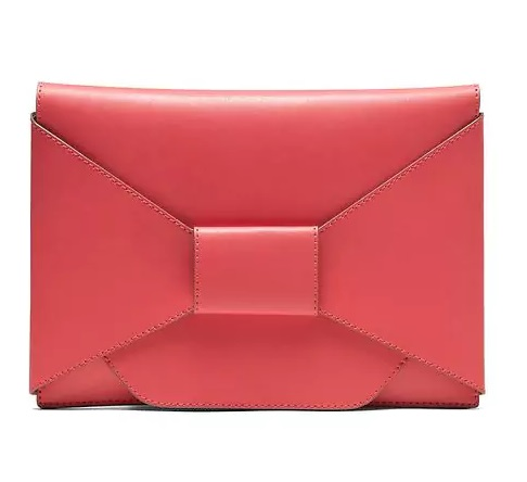 Red Bow Clutch, Banana Republic, bananarepublic.com    $68