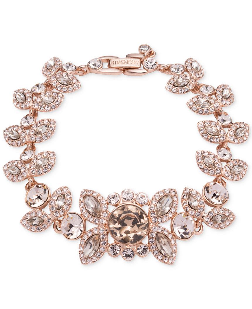 Rose Gold Crystal and Pave Decorative Bracelet by Givenchy, Macys.com $125