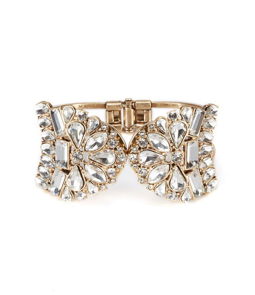 Vintage Crystal Cuff Hinge Bracelet by Bell Badgley Mischka Dillards.com $48