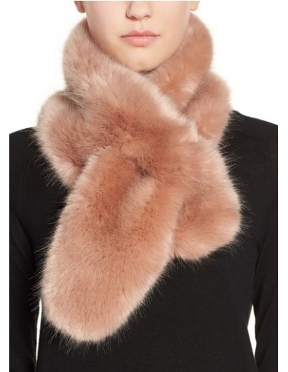 Rose Faux Fur Pull-Through Scarf by HALOGEN at Nordstom.com $49