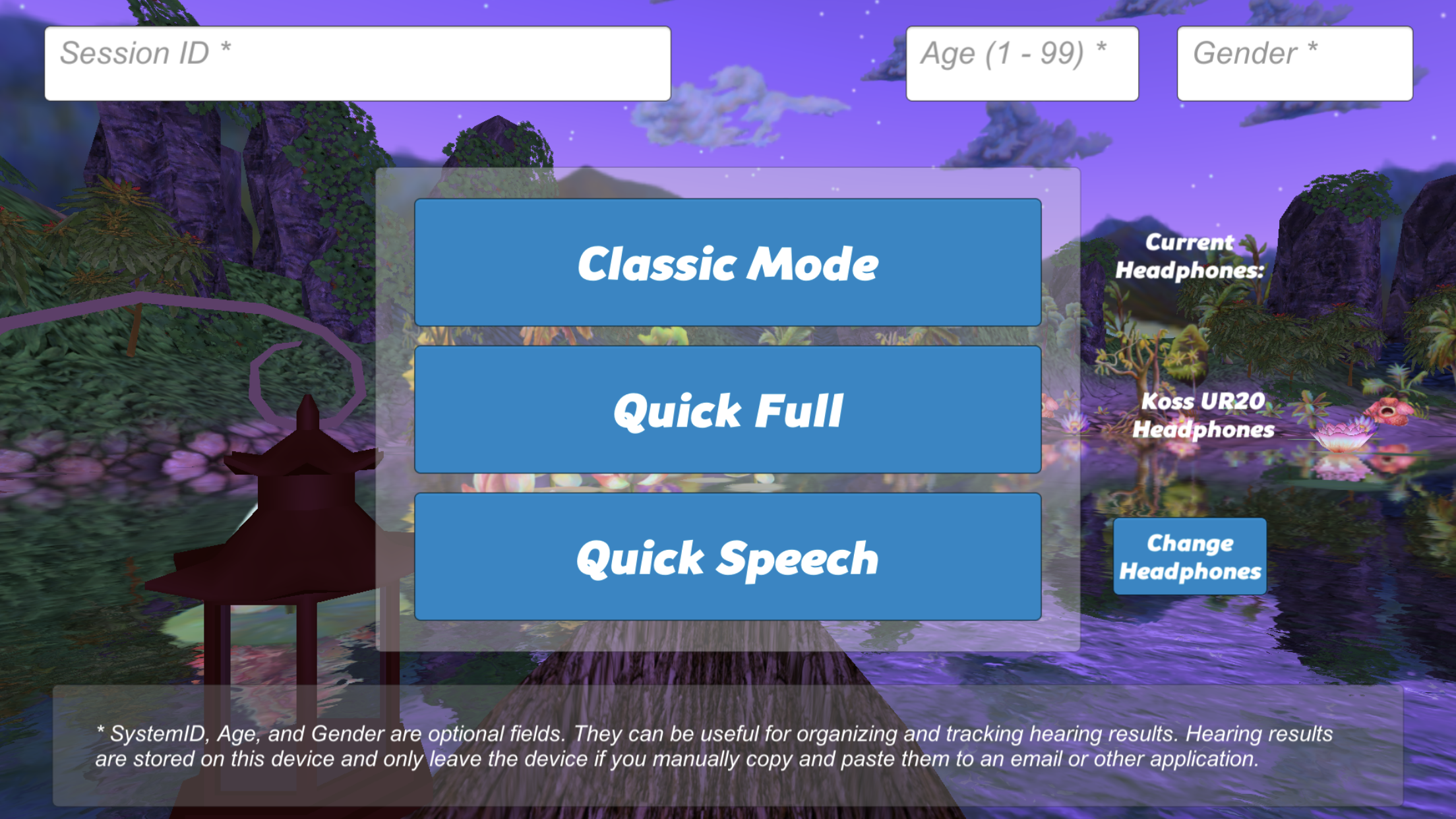 Mode Screen