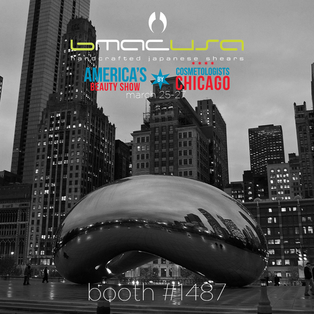 Are you ready CHICAGO!? Come check our booth at the @americasbeautyshow on March 25th-27th. You won't want to miss this event. Feel our scissors for yourself and experience what everyone is talking about! 🏙✂️