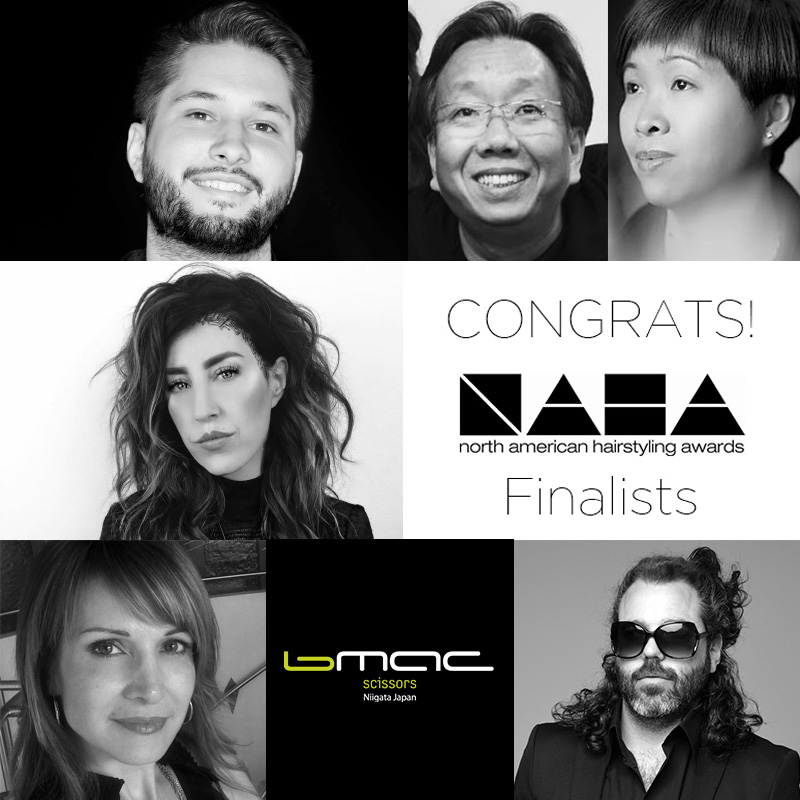 Congratulations to Bmac USA educators and platform artists loving Bmac scissors !!! Nominated as NAHA Finalists is our very own U.S and Canadian Bmac Educators  Anna Pacitto  (Master Stylist of the Year),  Sal Misseri  (Men's Hairstylist of the Year) and  Jake Thompson (Hairstylist of the Year). Our previous Bmac Showdown monthly winner,  Chelsea James  (Hairstylist of the Year), as well as our amazing Bmac supporters who love our scissors  Silas Tsang  (Master Stylist of the Year and Texture Stylist of the Year), and  Dorothy Tang (Haircutting of the Year)! Good luck on the road to  #NAHA2019  💚 #YouGotThis