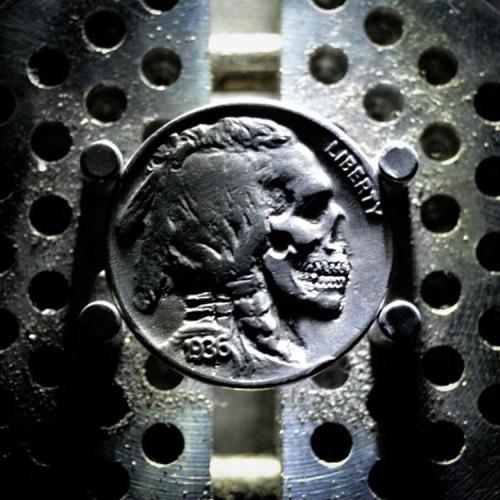 Buffalo Nickel Carving