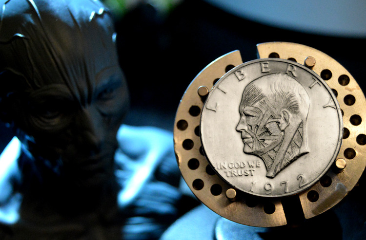 Eisenhower Coin Carving