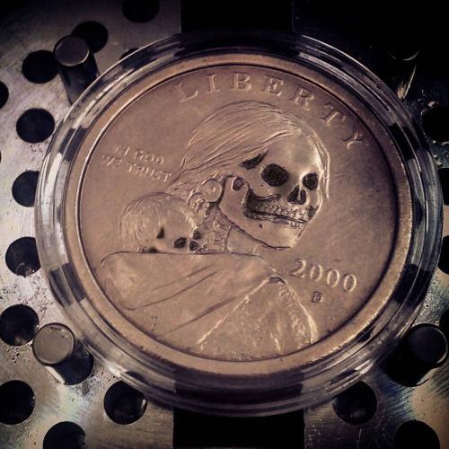 Sacagawea Coin Carving