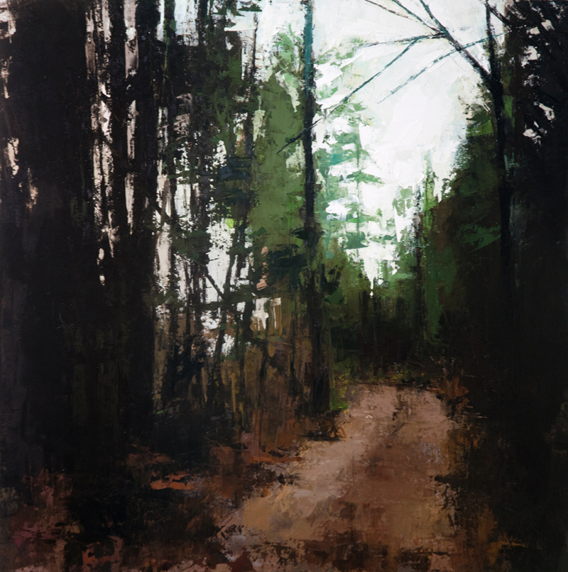 clear lake trail - 20x20 inches - oil on wood board - 2014