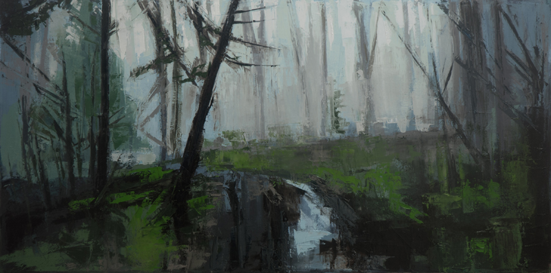 the stones the trees, and the bones of things - 15x30 inches - oil on canvas - 2015