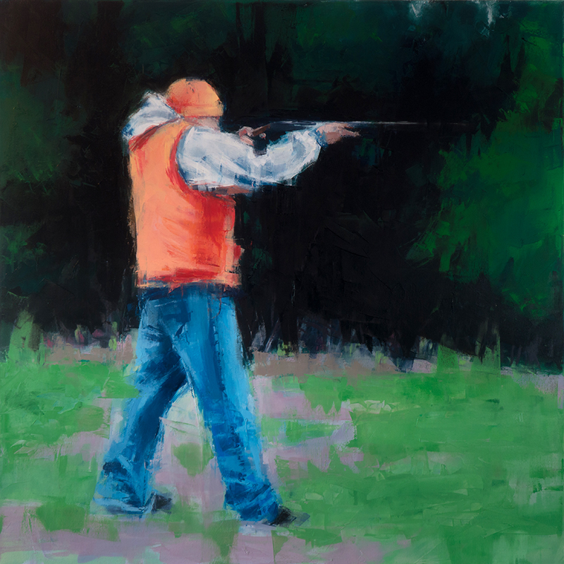 target practice - 36x36 inches - oil on canvas - 2015