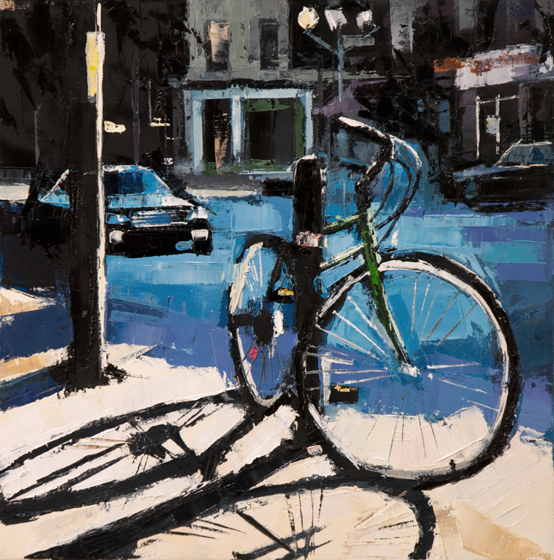 harvard bike - 12x12 inches - oil on canvas - 2013
