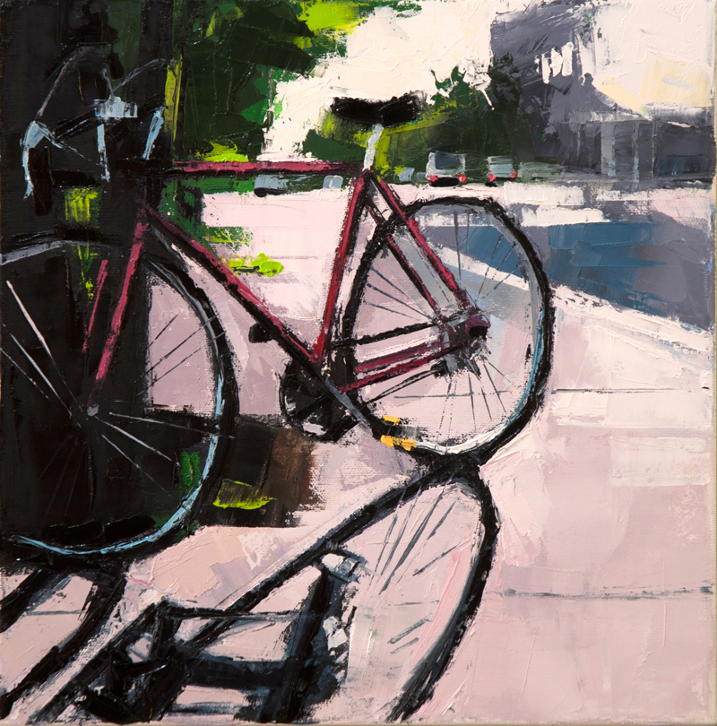 ndg bike - 12x12 inches - oil on canvas - 2013
