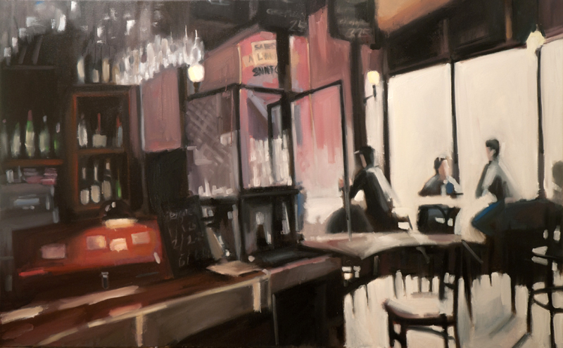 sardine cafe - 30x48 inches - oil on canvas - 2012