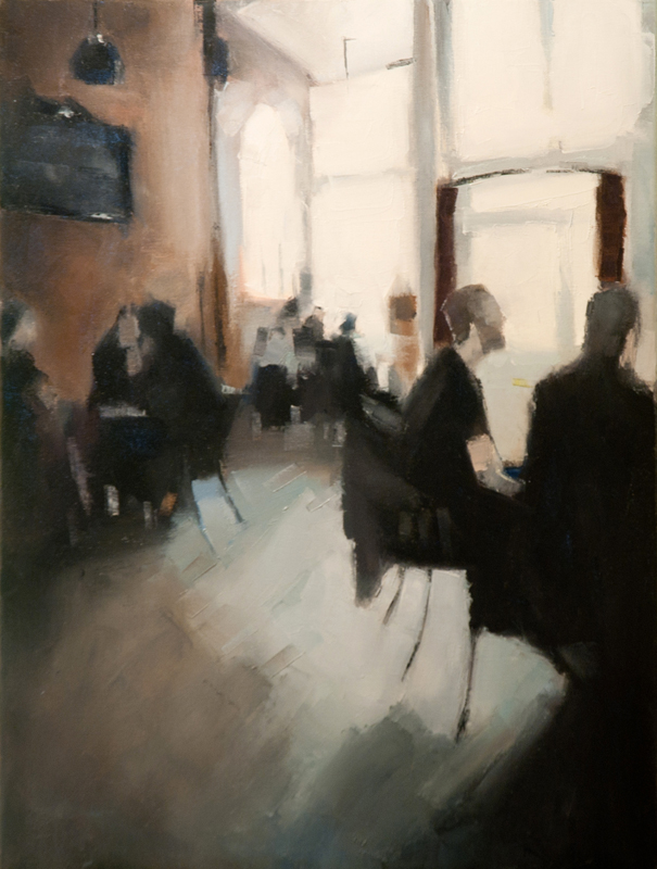 griffintown cafe - 18x24 inches - oil on canvas - 2012