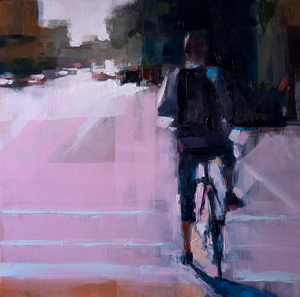 spring bikes - 12x12 inches - oil on canvas - 2017