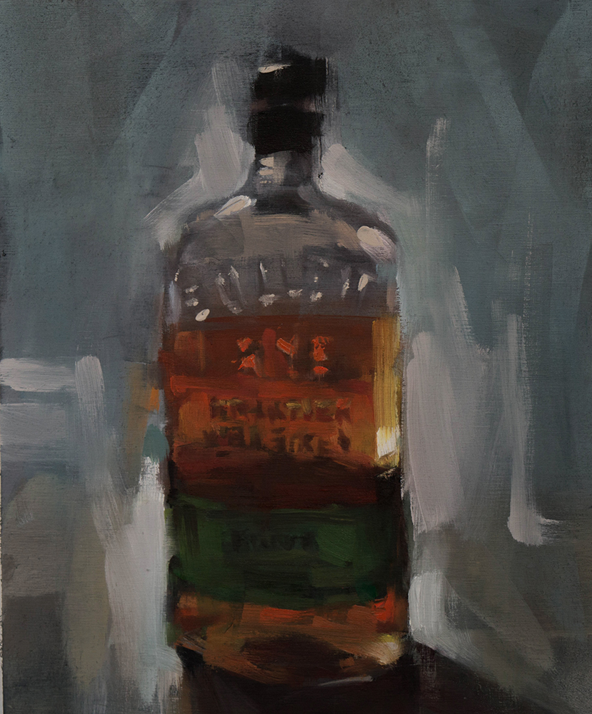 Bulleit Rye - 10x12 inches - oil on wood board - 2017