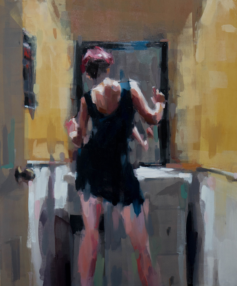 Bathroom Mirror - 20x24 inches - oil on wood board - 2017